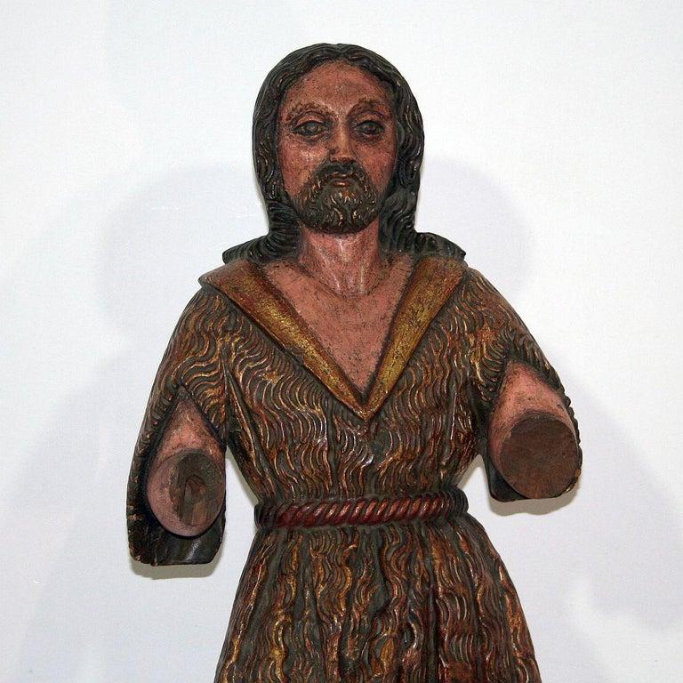 Spanish 18th Century Baroque Christ Figure For Sale 1