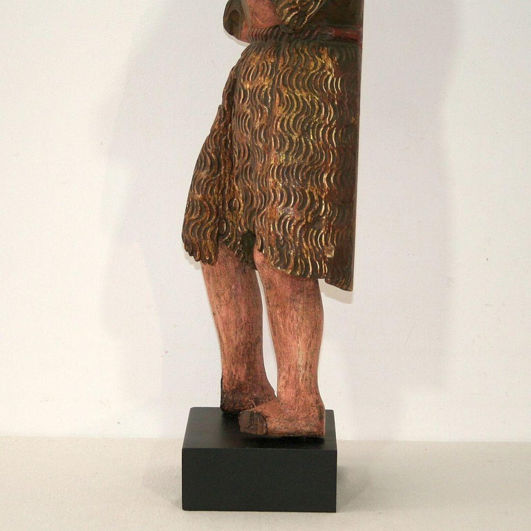 Spanish 18th Century Baroque Christ Figure For Sale 3