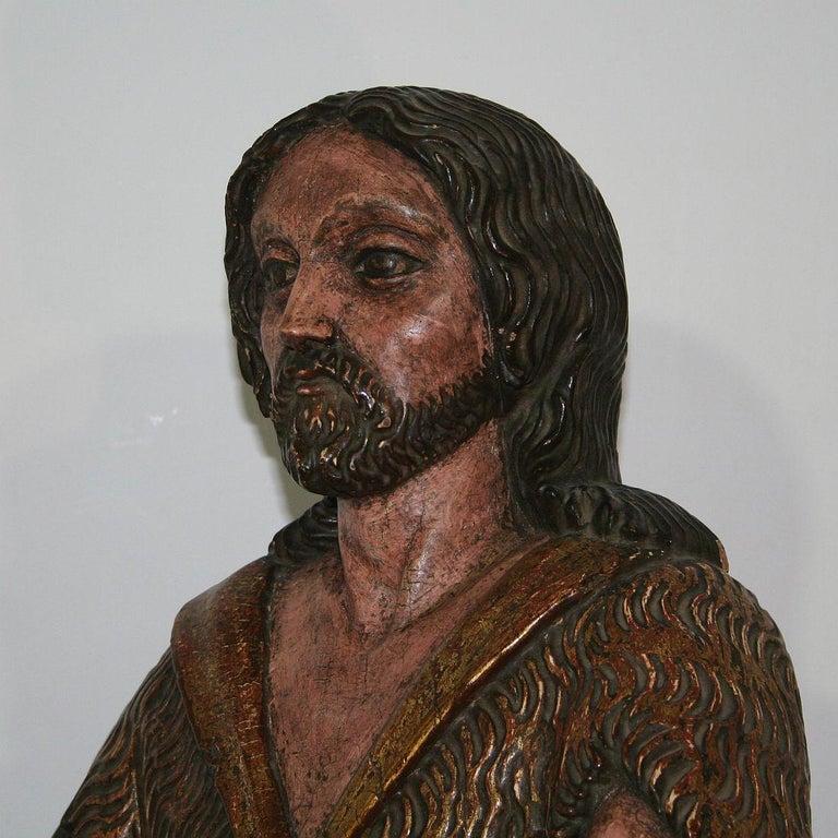 Spanish 18th Century Baroque Christ Figure For Sale 5