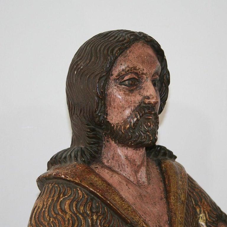 Spanish 18th Century Baroque Christ Figure For Sale 6