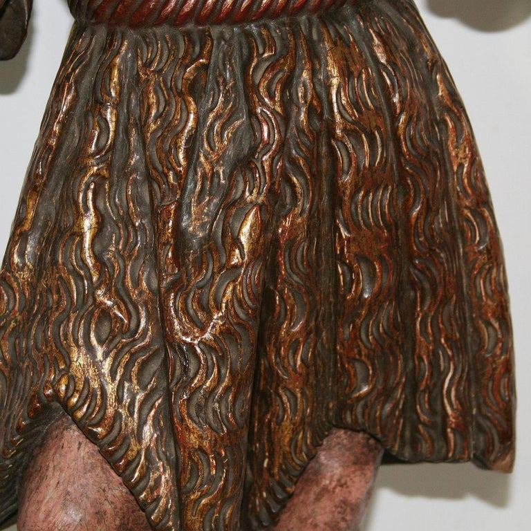 Spanish 18th Century Baroque Christ Figure For Sale 8