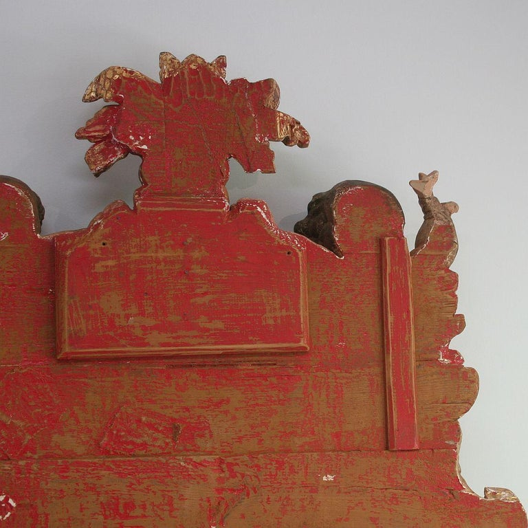 Large Late 18th Century Portuguese Baroque Panel with Angels and Dragons For Sale 12