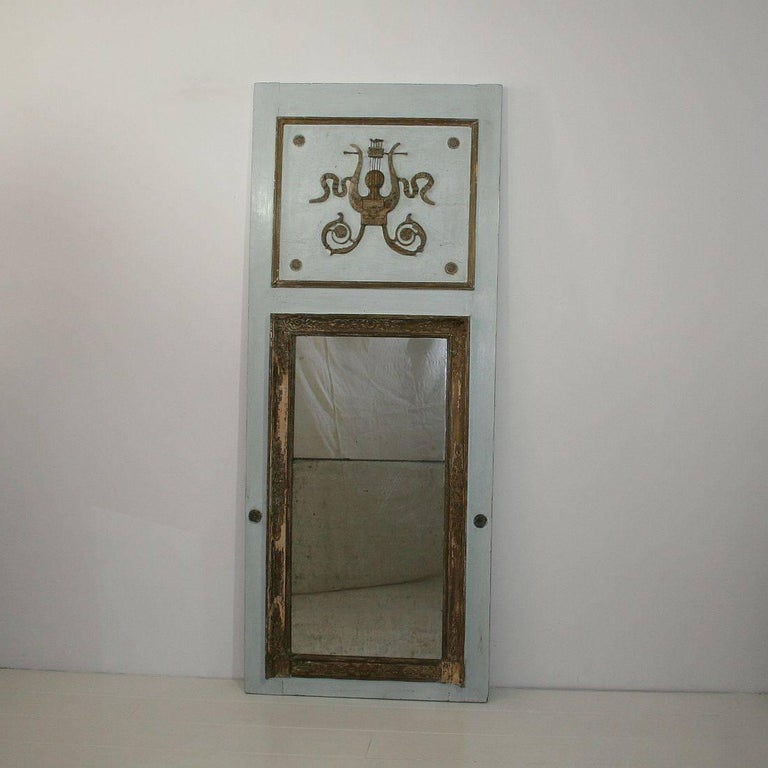 Large 19th Century Neoclassical Trumeau Mirror For Sale At 1stdibs