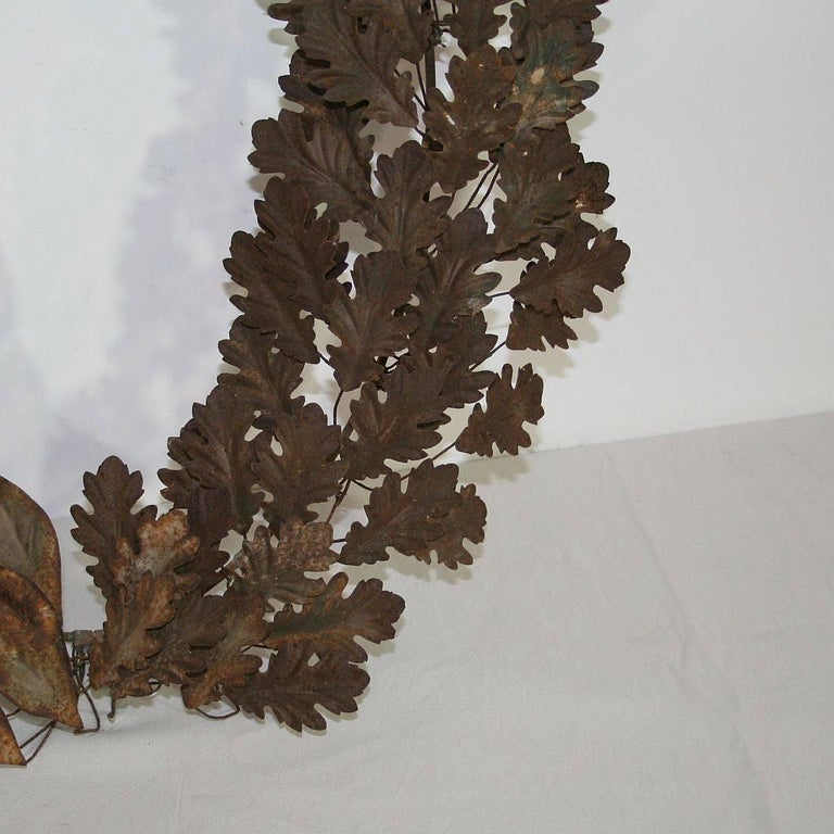 19th Century French Iron Laurel Wreath For Sale 4