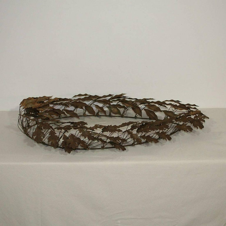 19th Century French Iron Laurel Wreath 9