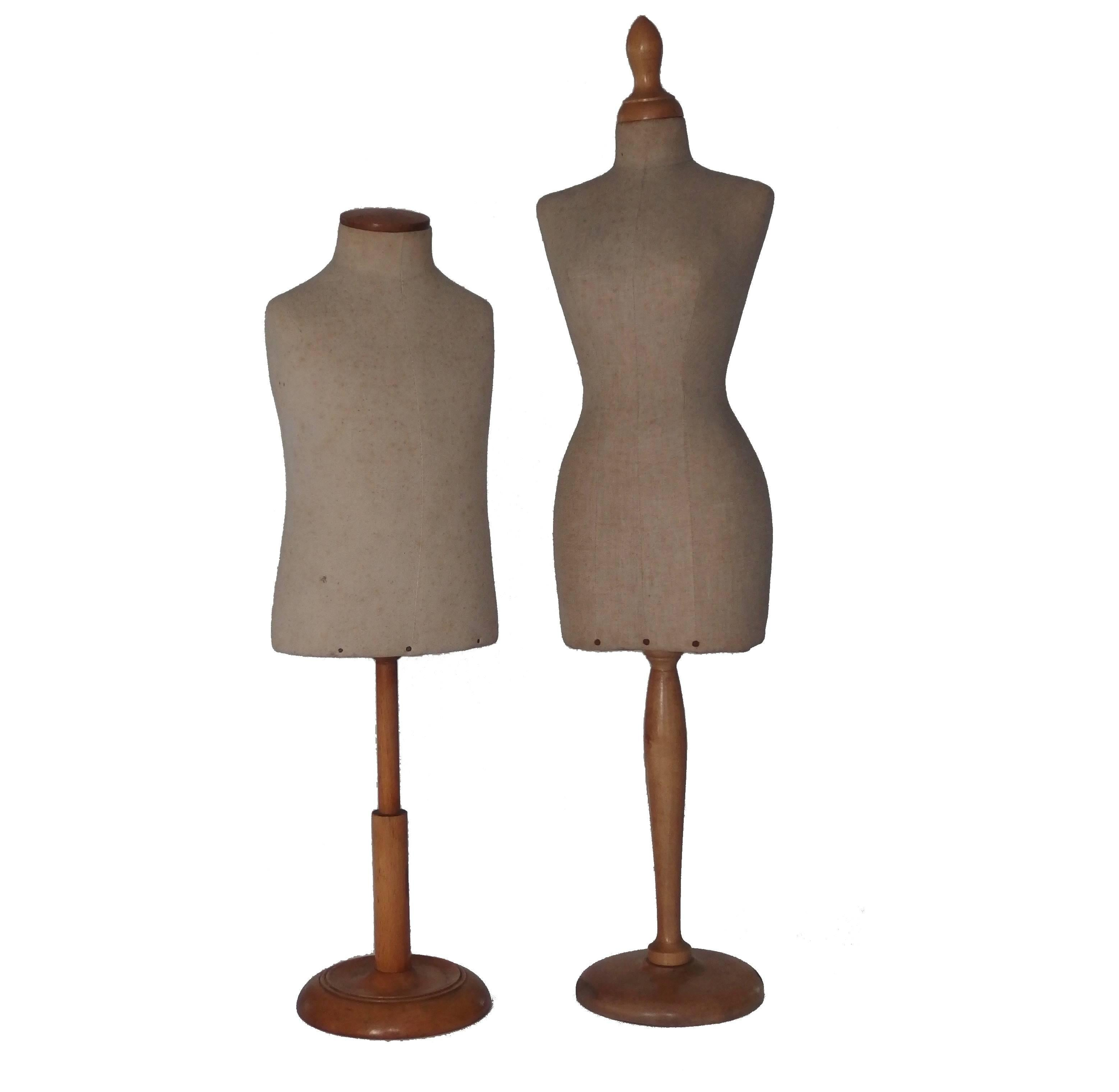 Two Miniature Mannequins / Dress Form For Sale at 1stdibs