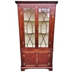 Corner Cupboard, English, circa 1800, Mahogany