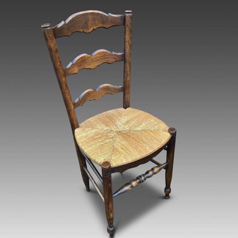 Farmhouse Kitchen Chairs, French Set of Ten, circa 1930 at ...