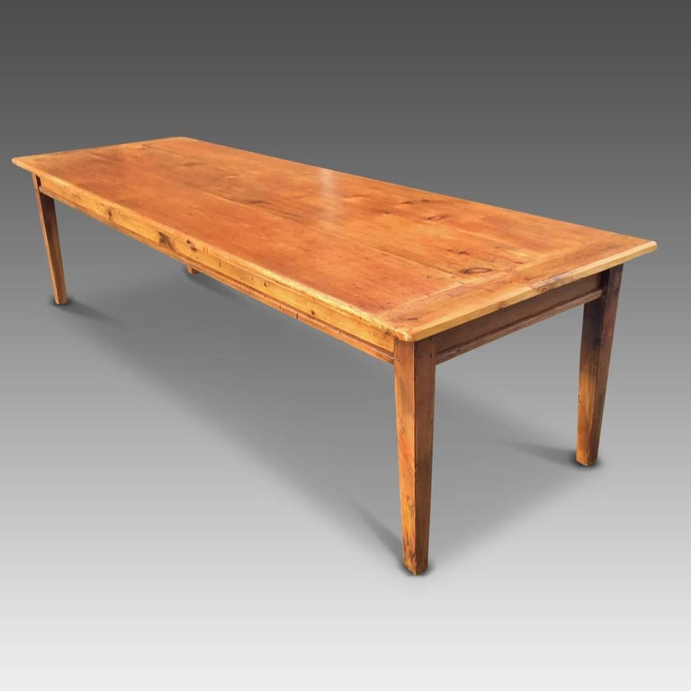 Farmhouse table large english 19th century circa 1830 for Dining room tables 38 inches wide