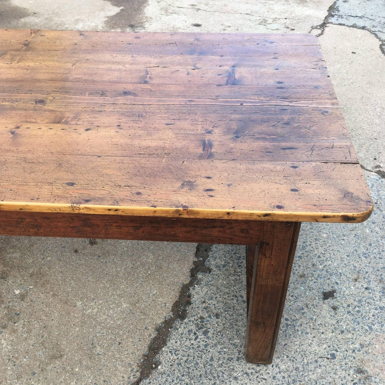 Farmhouse table long and wide pine topped for sale at for 12 person farmhouse table