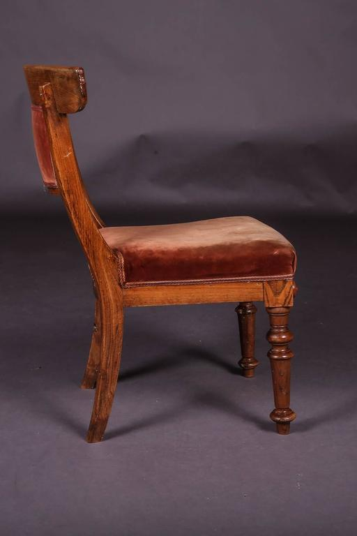 German 19th Century Biedermeier Curving Backrest Chair For Sale