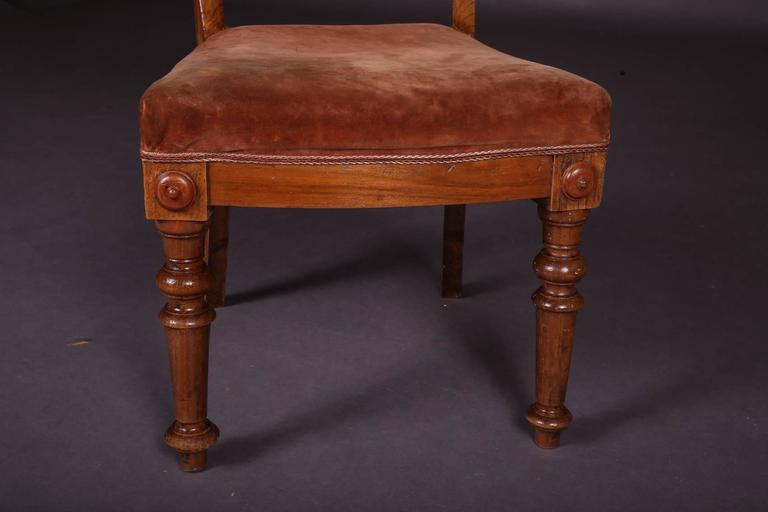 19th Century Biedermeier Curving Backrest Chair For Sale 4