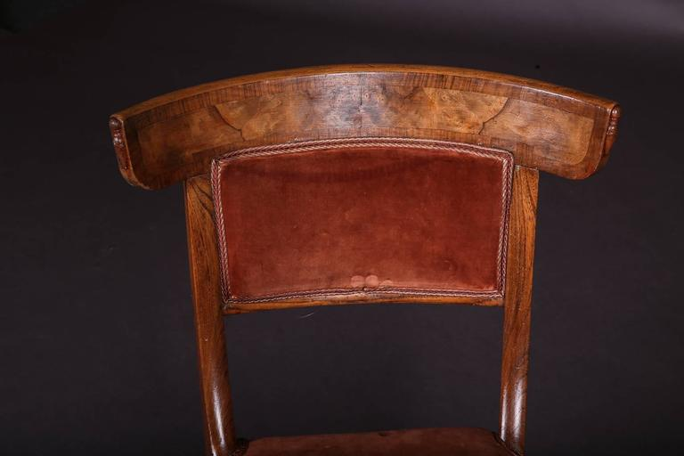 19th Century Biedermeier Curving Backrest Chair For Sale 1