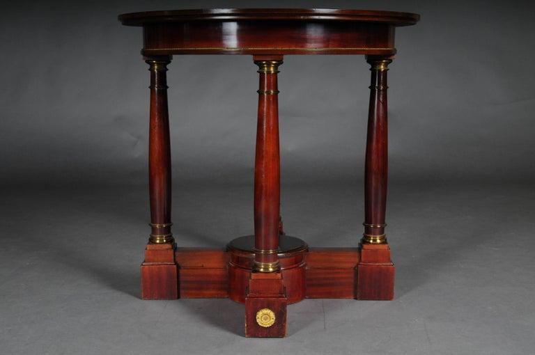 19th Century Empire Salon Table, 1890 In Good Condition For Sale In Berlin, DE
