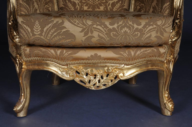 20th Century Louis XV Quinze Bergère Chair, Lounge For Sale 4