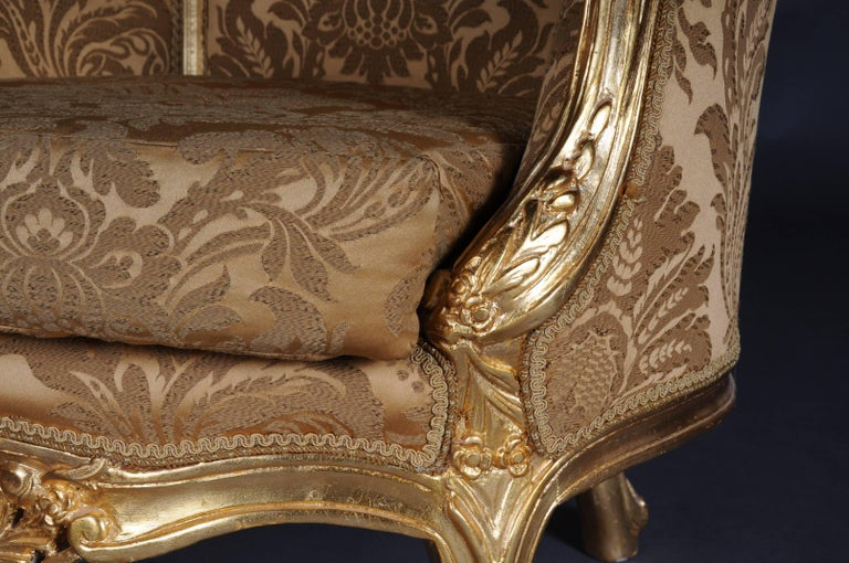 20th Century Louis XV Quinze Bergère Chair, Lounge For Sale 3