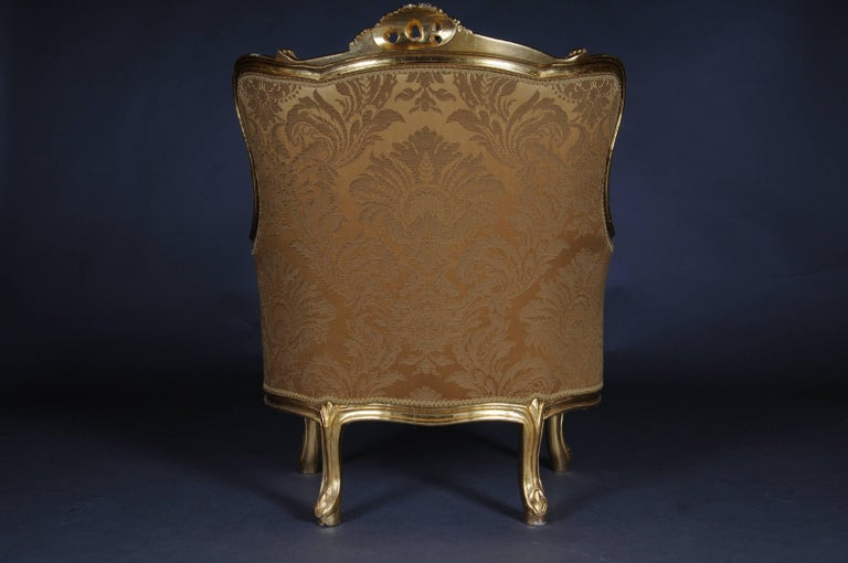20th Century Louis XV Quinze Bergère Chair, Lounge In Good Condition For Sale In Berlin, DE