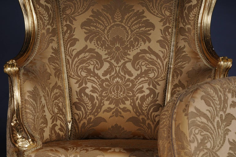20th Century Louis XV Quinze Bergère Chair, Lounge For Sale 1