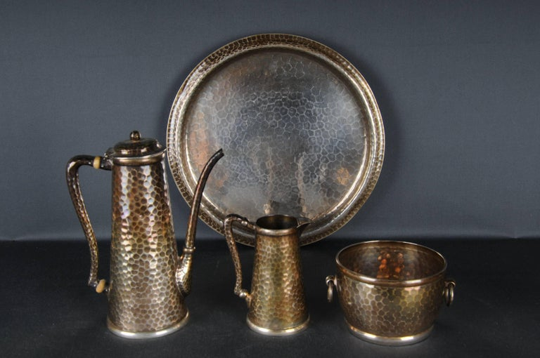 American 20th Century Tiffany & Co. Demitasse Sterling-Silver Set, Rare For Sale