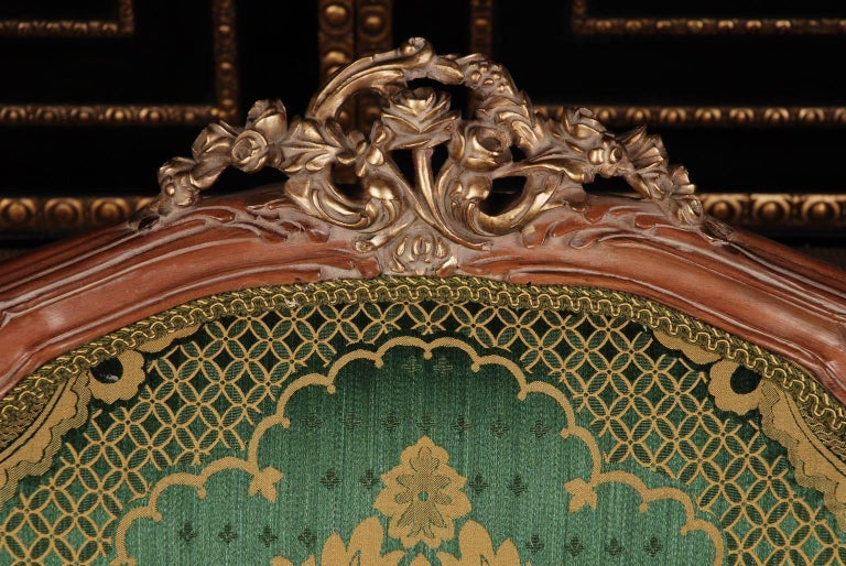 Louis XV 20th Century Louis Quinze Style French Curly-Leg Bergère For Sale