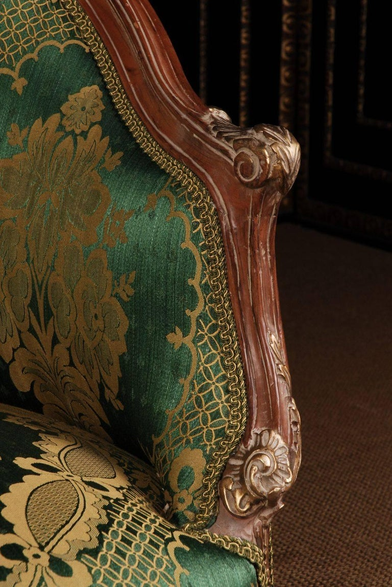 20th Century Louis Quinze Style French Curly-Leg Bergère In Good Condition For Sale In Berlin, DE