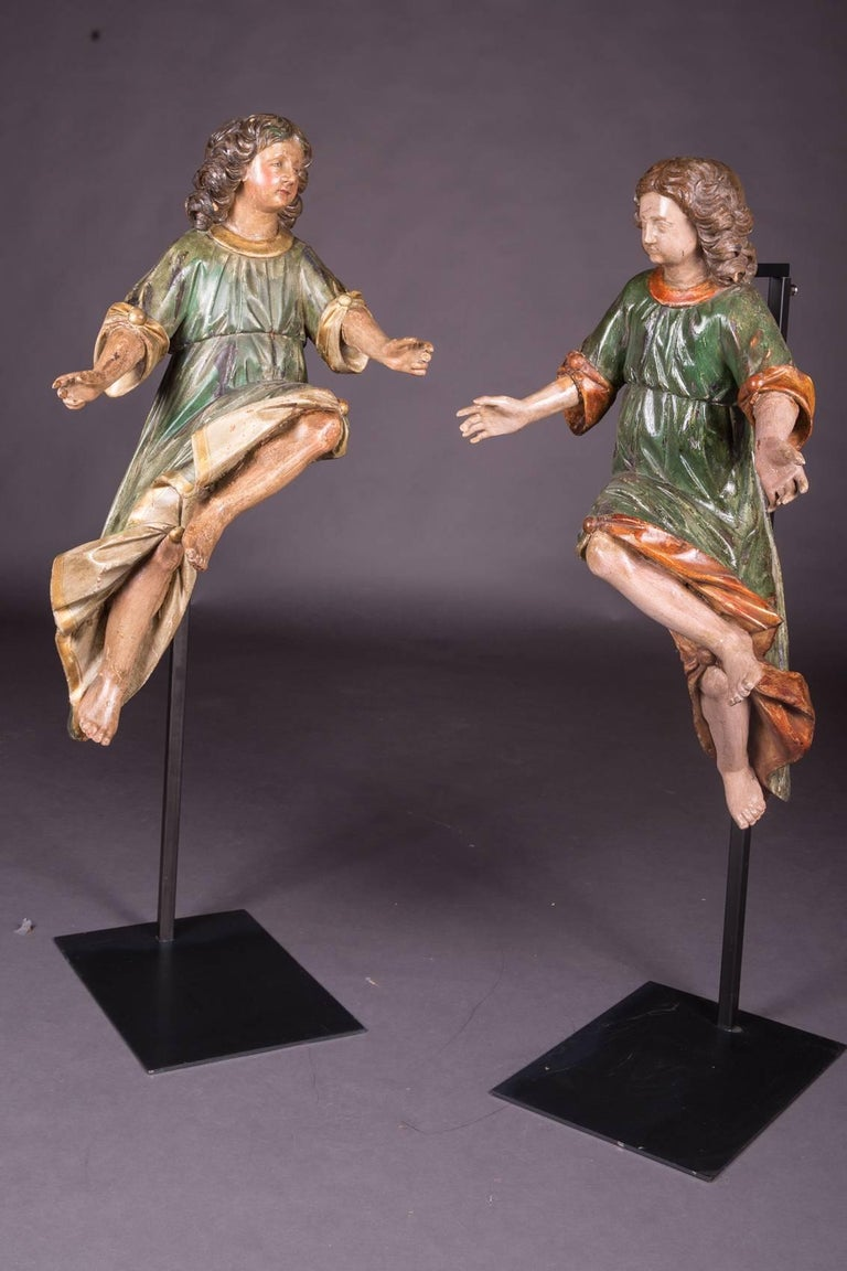 Solid oak. Colored figures. Extremely decorative and plastic.    (V-129).