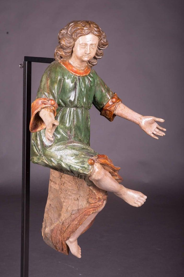 18th Century Baroque Oak Pair of Couple Baroque Figures In Good Condition For Sale In Berlin, DE
