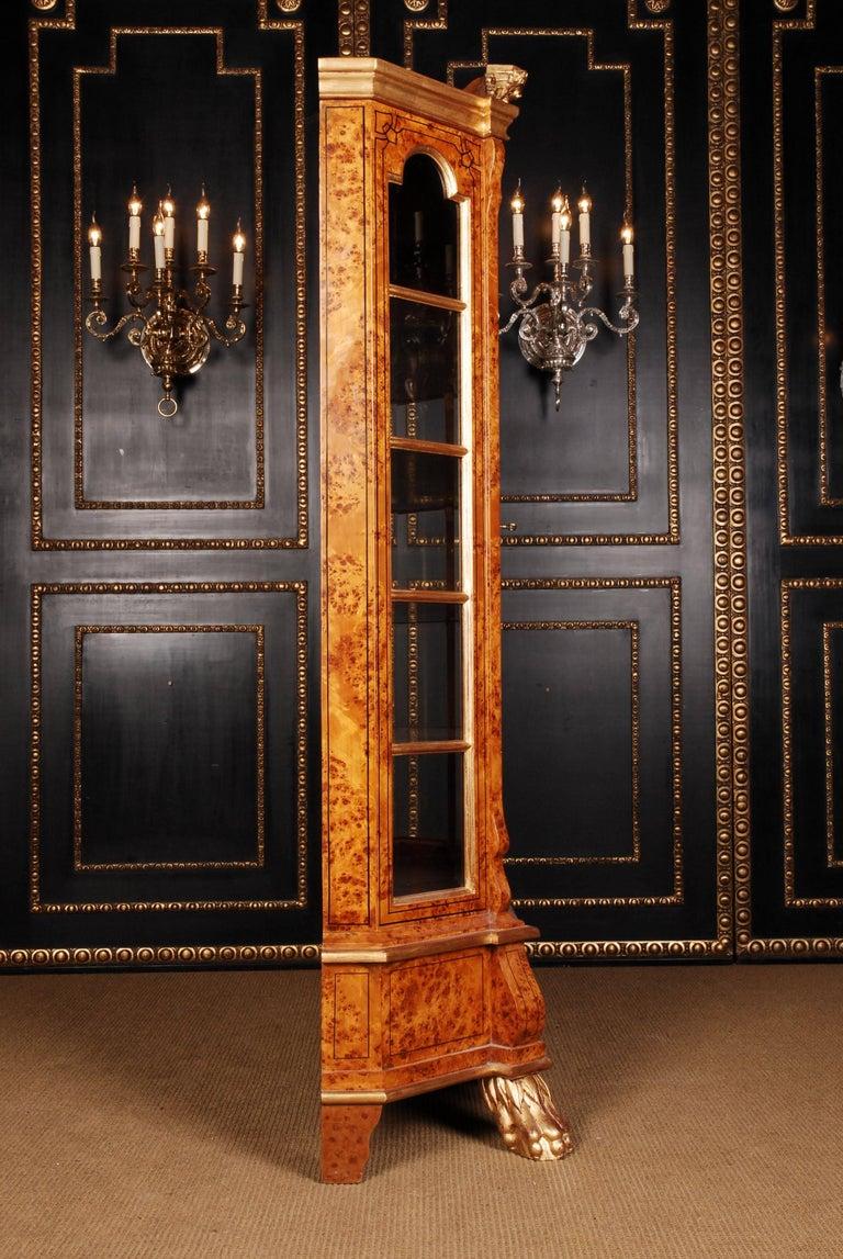 German 20th Century Baroque Style Dutch Vitrine Cupboard For Sale