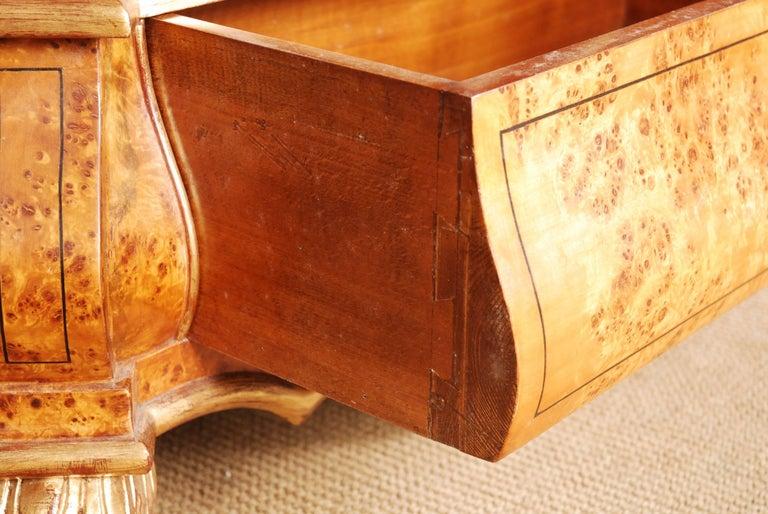 Veneer 20th Century Baroque Style Dutch Vitrine Cupboard For Sale