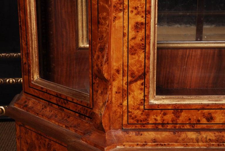 20th Century Baroque Style Dutch Vitrine Cupboard For Sale 1
