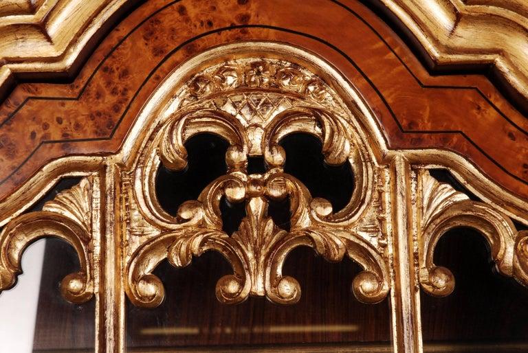 20th Century Baroque Style Dutch Vitrine Cupboard For Sale 2