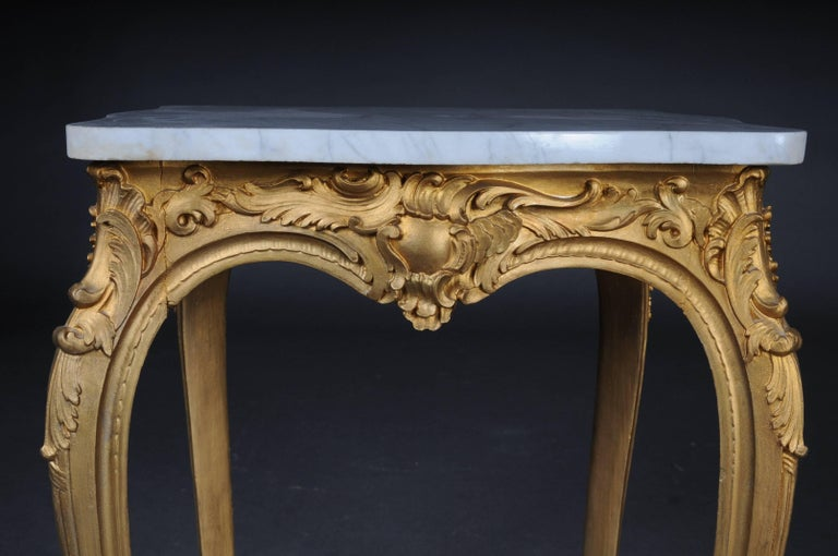 Hand-Carved French Side Table Napoleon III, circa 1890 For Sale