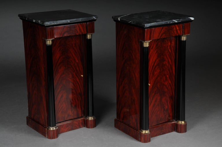 Classic Bedside Table, Side Table in Biedermeier, Mahogany L For Sale 1