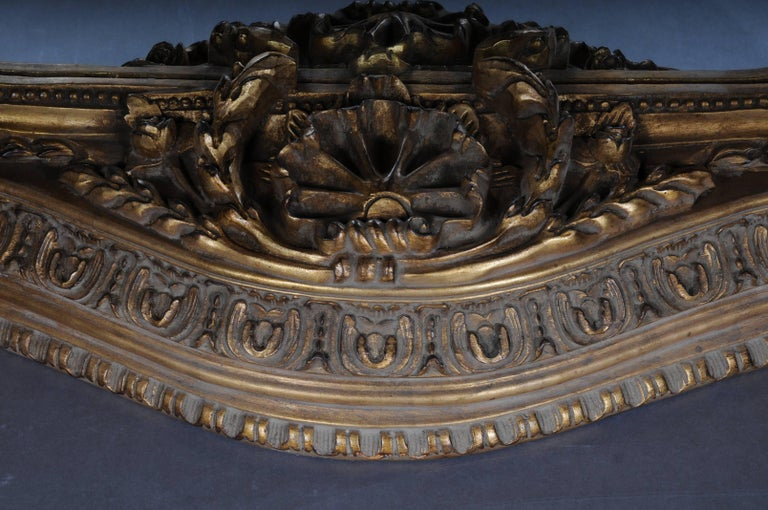 20th Century Gigantic Full-Length Mirror in Louis XVI, Solid beechwood For Sale 1
