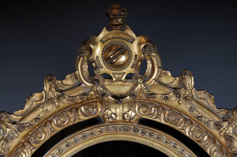 French 20th Century Gigantic Full-Length Mirror in Louis XVI, Solid beechwood For Sale