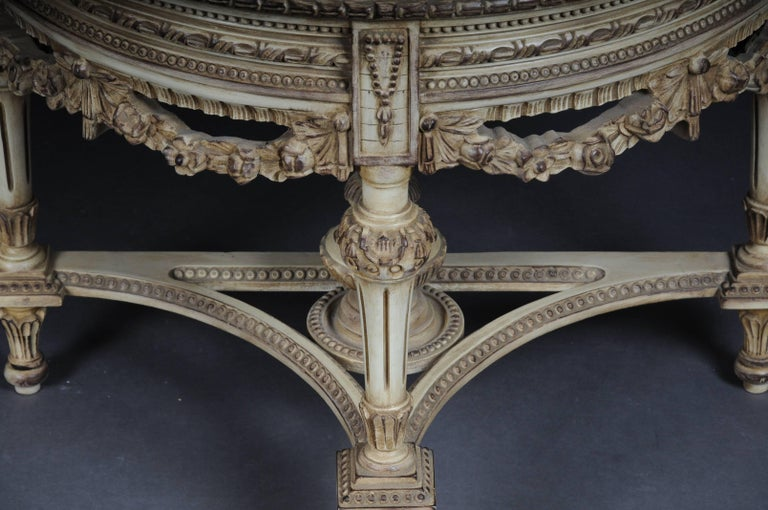 Hand-Carved Beautiful Console Mirror in the Louis XVI For Sale