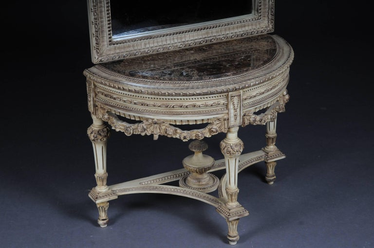 Beautiful Console Mirror in the Louis XVI For Sale 2