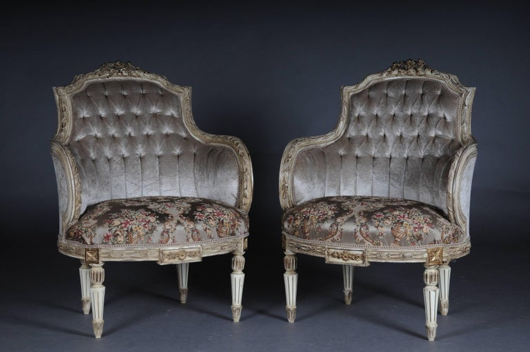 Unique French Seating, Set in Louis XVI For Sale 2