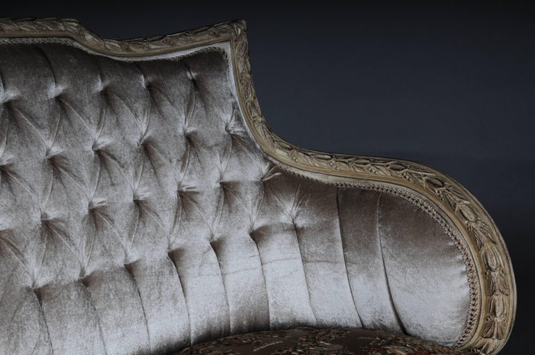 Beech Unique French Seating, Set in Louis XVI For Sale