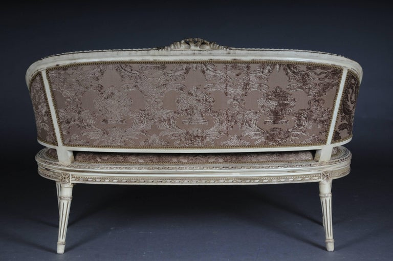 beautiful sofa canape in the louis xvi for sale at 1stdibs. Black Bedroom Furniture Sets. Home Design Ideas