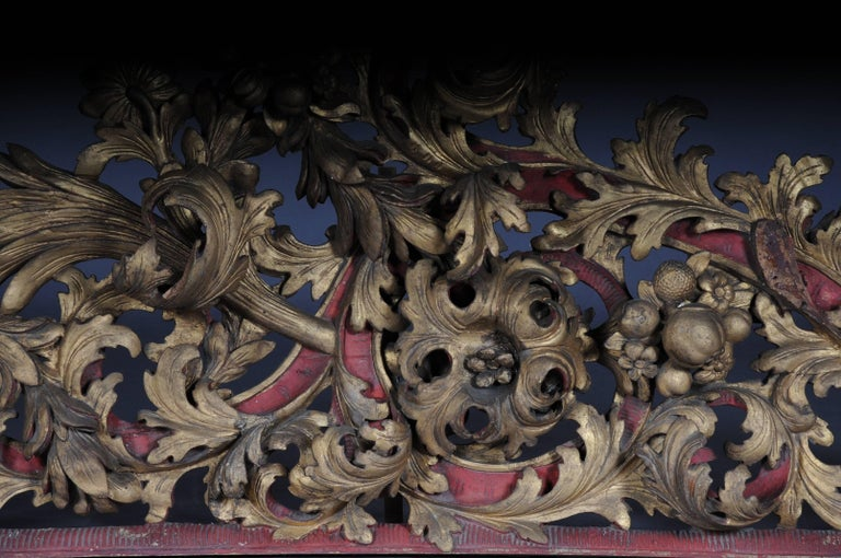 Wood Large Baroque Supraporte / Ornamental Element, Mid-18th Century For Sale