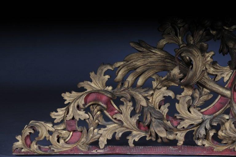 Large Baroque Supraporte / Ornamental Element, Mid-18th Century In Good Condition For Sale In Berlin, DE