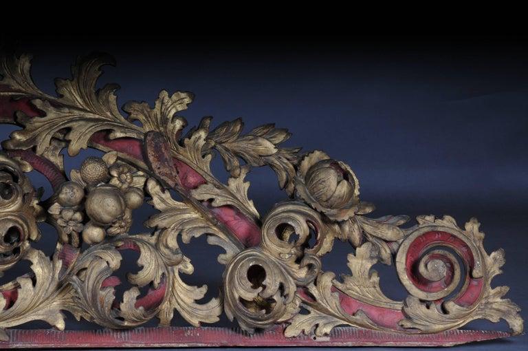 Large Baroque Supraporte / Ornamental Element, Mid-18th Century For Sale 1