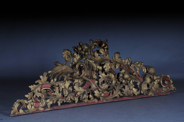 French Large Baroque Supraporte / Ornamental Element, Mid-18th Century For Sale