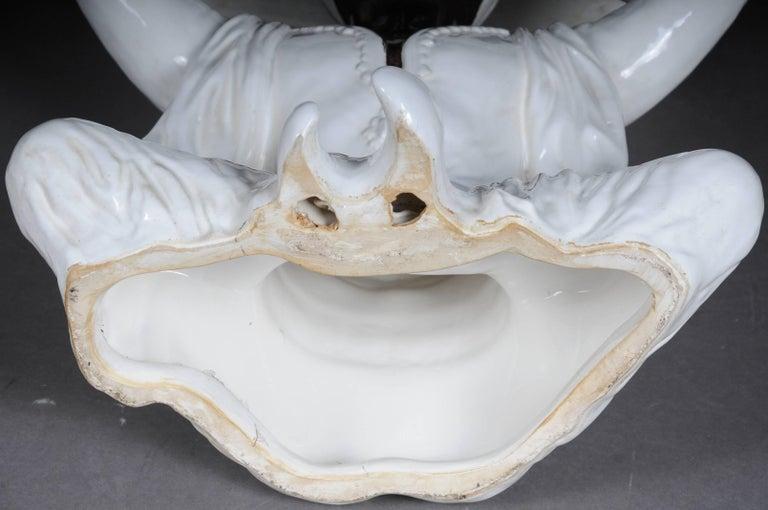 Sarotti sculpture blackamoor ceramics pedestal base for sale at 1stdibs - Ceramic pedestal table base ...