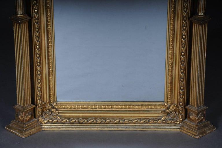 French 19th Century Classicistic Splendor Mirror Gilt Napoleon III For Sale