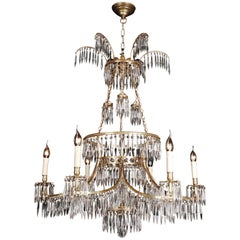 20th Century Classicist Style Swedish Ceiling Candelabra Chandelier