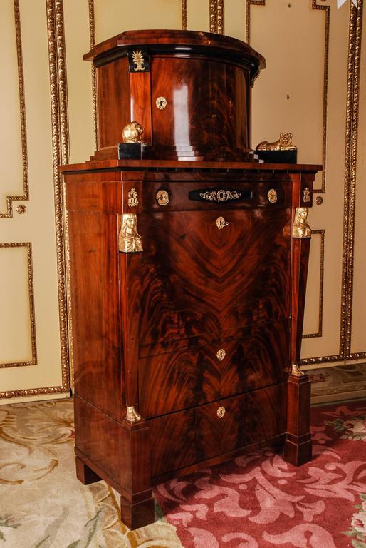 Gilt 19th Century Lion Secretary Empire Berlin For Sale