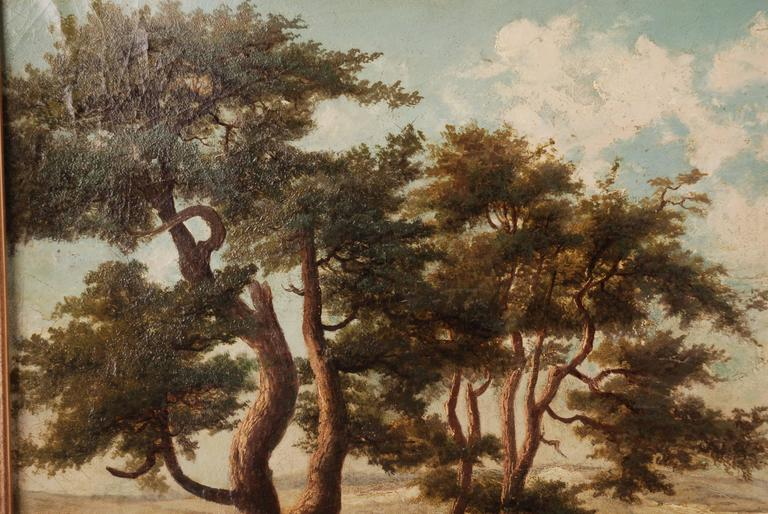 German 19th Century Landscape Oil Painting For Sale