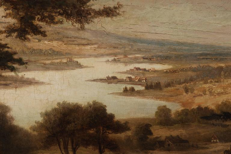19th Century Landscape Oil Painting In Fair Condition For Sale In Berlin, DE